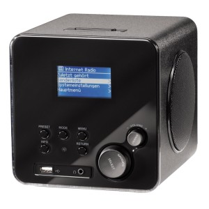 Hama IR100 Wireless Lan Internet Radio schwarz